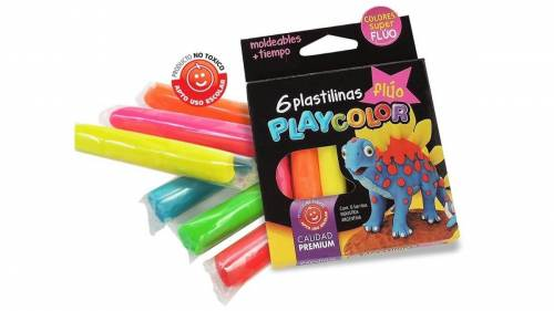 Plastilina Playcolor X 6 Fluo