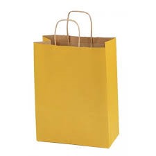 Bolsa Kraft Color Amarillo 16x24