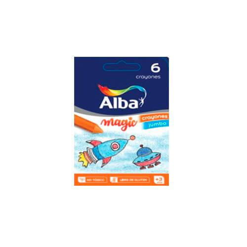 Crayones Alba Magic Kinder X 6 Cortos