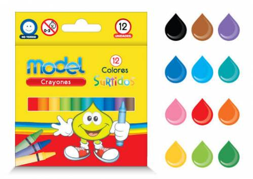 Crayones Model X 12 Colores