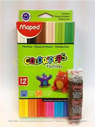 Plastilinas Maped Color Peps X 12 Unid Surt